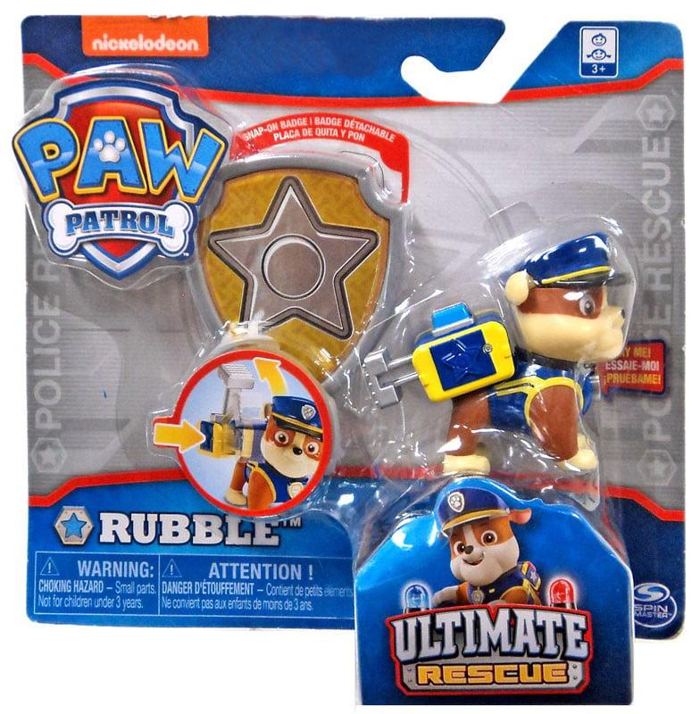Paw Patrol Ultimate Rescue Rubble Figure [Badge]