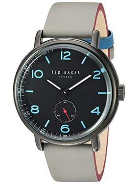 Ted Baker Harry 43mm Luminous Black Dial Grey Leather Men's Watch TE50372002