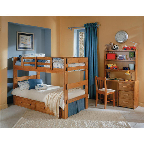 Chelsea Home Twin over Twin Standard Bunk Bed with Underbed Storage