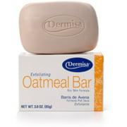 Dermisa Exfoliating Oatmeal Bar 3 oz (Pack of 6)