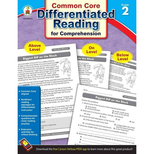 Differentiated Reading for Comprehension, Grade 2: Common Core State Standards