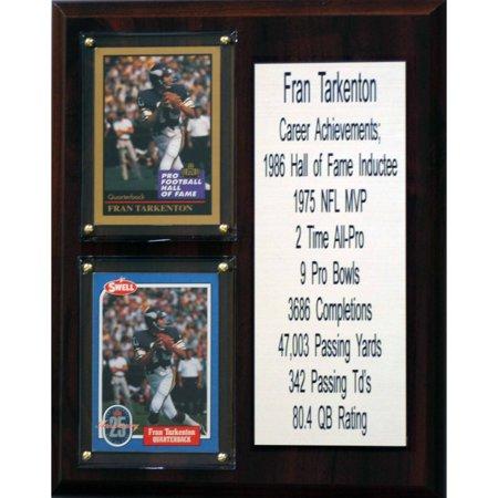 - C&I Collectables NFL 8x10 Fran Tarkenton Minnesota Vikings Career Stat Plaque