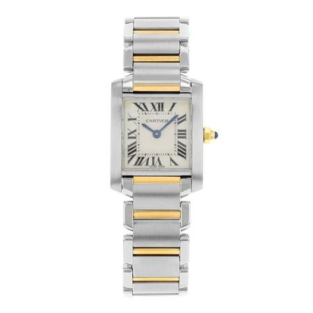 Cartier Tank Francaise W51007q4 Steel   18K Yellow Gold Quartz Ladies Watch  Pre Owned