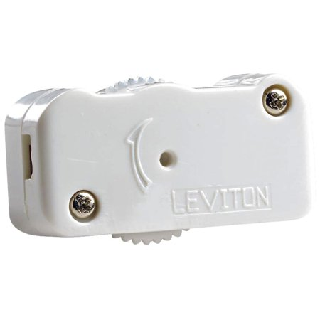 Cord Dimmer - LEVITON MFG CO 200W White Cord Dimmer L02-01420-00W