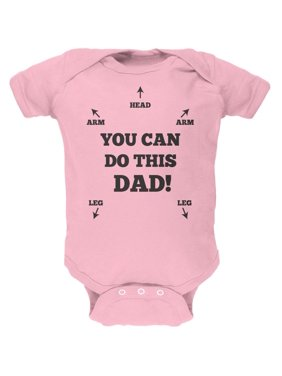 Father's Day You Can Do This Dad Light Pink Soft Baby One Piece - 0-3 months