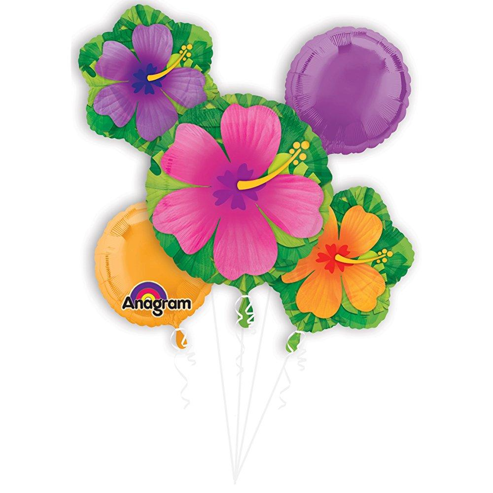 Mayflower Distributing 63772 BOUQUET TROPICAL HIBISCUS BALLOON -PKG