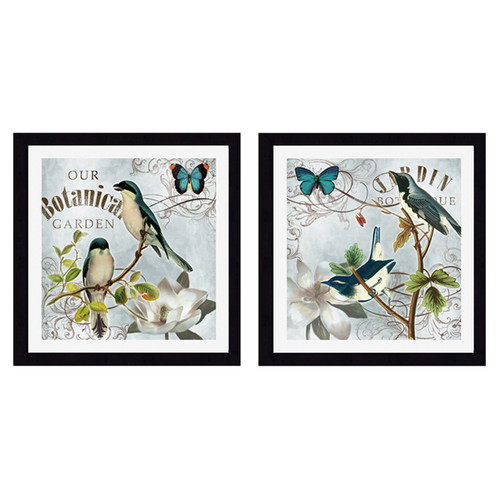 PTM Images Botanical Garden 2 Piece Framed Graphic Art Set