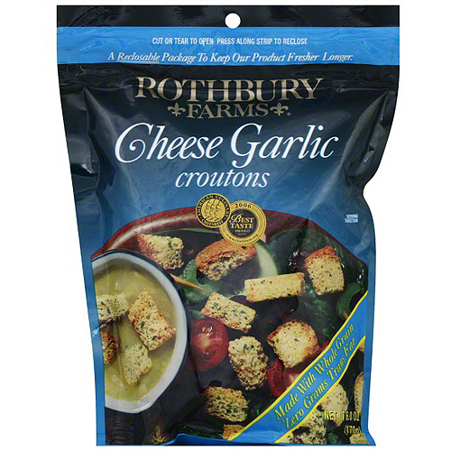 Rothbury Farms Cheese Garlic Croutons, 6 oz (Pack of 12)