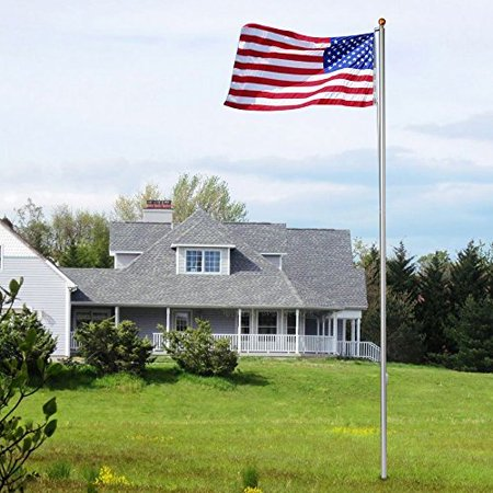 Zeny 20ft Sectional Aluminum Flagpole 6 sections W/ Gold Ball Outdoor Kit Gift