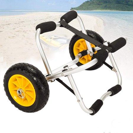 - UBesGoo Kayak Trolley Canoe Jon Boat Carrier Dolly Trailer Tote Trolley Transport Cart Wheel with Pneumatic Tires 165 LB Capacity