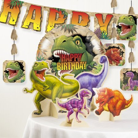 The Party Aisle Dinosaur Birthday Party Decoration Kit