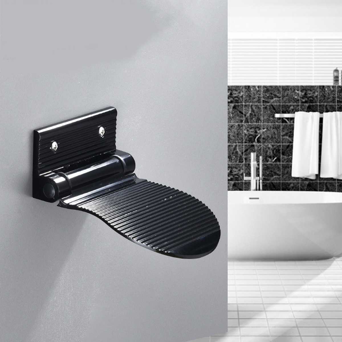 Details about  /Ellen Shower Foot Rest Bathroom Pedals Non-slip Shower Footstool Pedestal Pedals