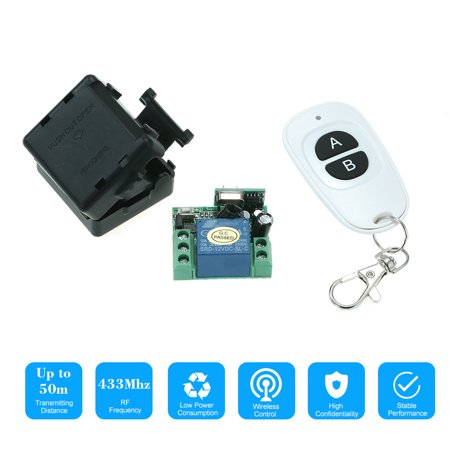 433MHz DC12V 1CH RF Wireless Remote Control Switch + 1PCS RF 433MHz Transmitter Remote Controls For Household Appliances Electronic Lock Control System