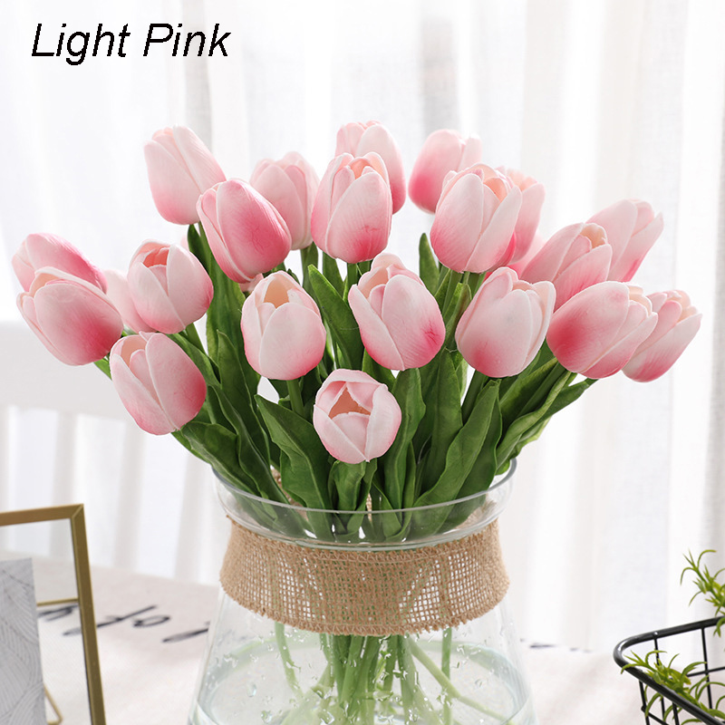 Artificial Tulips Real Touch Fake Flowers Artificial Tulips Flowers Arrangement Bouquet For Home Room Office Wedding Party 5 10pcs Walmart Com Walmart Com