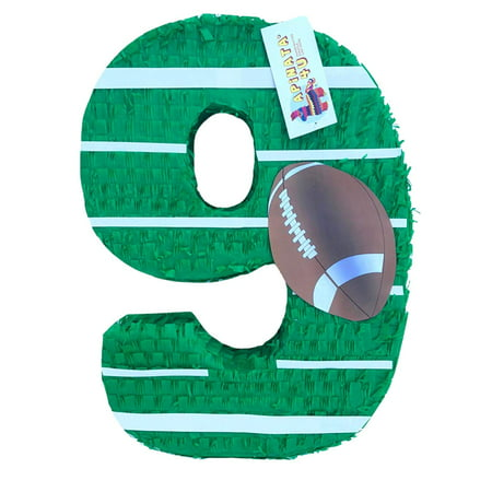 APINATA4U Large Number Nine Pinata Football Theme Football Party Favor