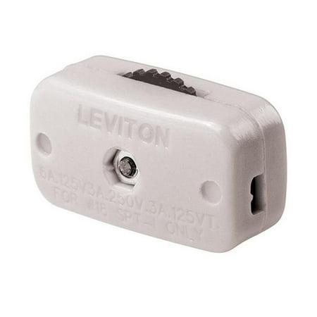 00423-3KW White Miniature Feed-Thru Cord Switch - image 1 of 1
