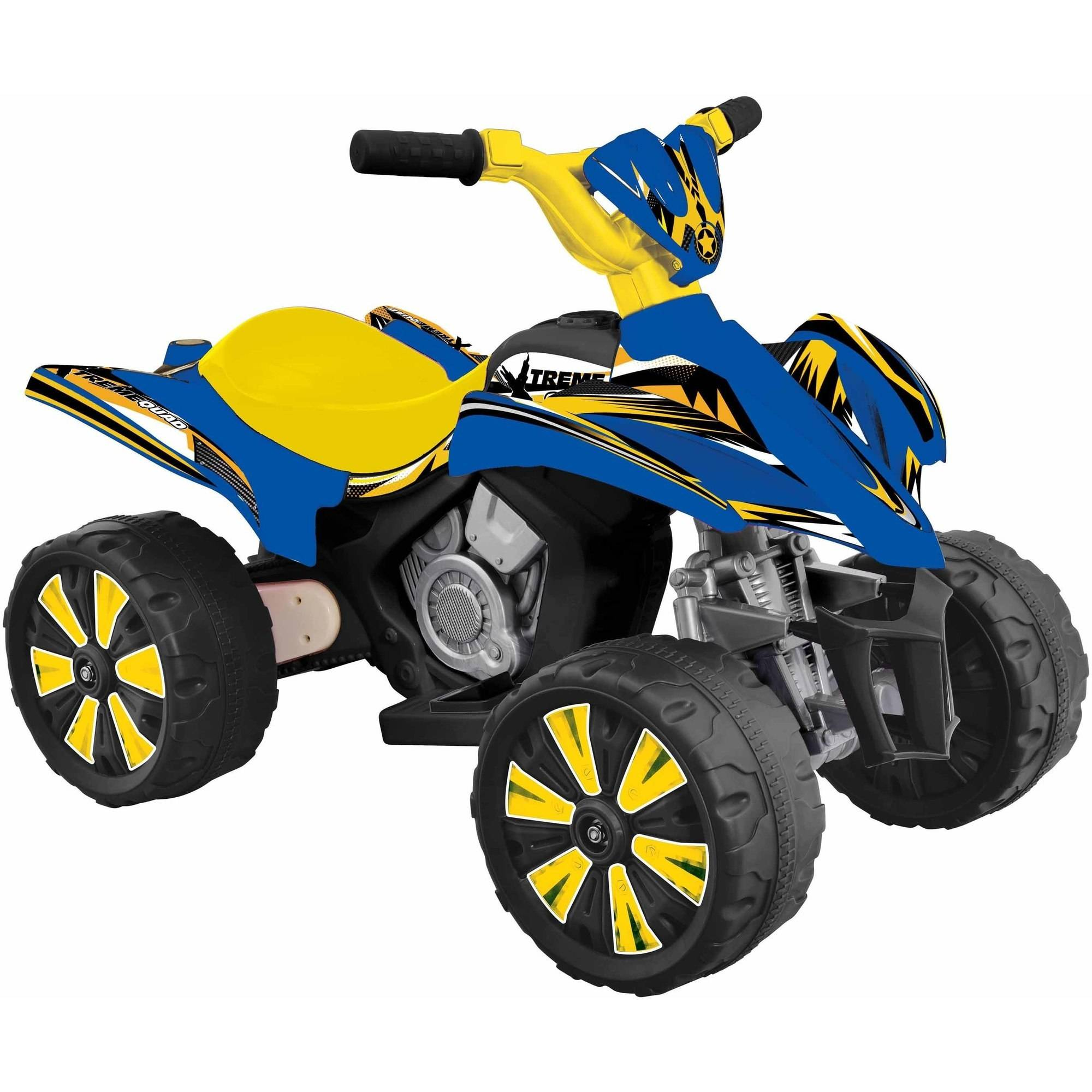 Fun Creation 6V Xtreme Quad Ride-On, Blue and Yellow