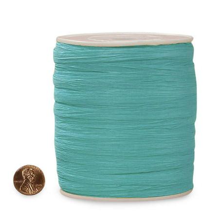Yellow Raffia (Turquoise Paper Raffia 1/4