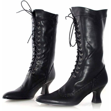 Amelia Black Boots Women's Adult Halloween Costume Accessory - Cheap Halloween Boots