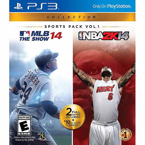 2K Games Sports Pack Vol. 1 - MLB 14 The Show/NBA2K14 (PS3)