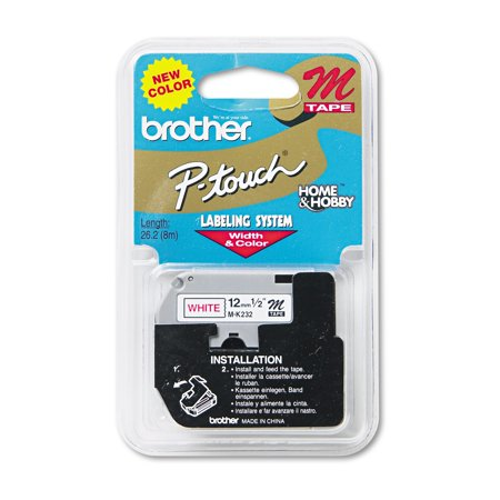Brother P-Touch M Series Tape Cartridge for P-Touch Labelers, 1/2