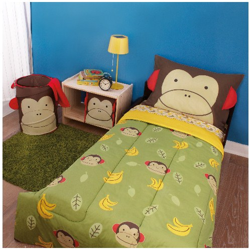 Zoo Toddler 4 Piece Bedding Set - Monkey