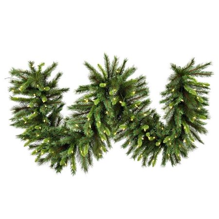 Vickerman G193618LED 9 ft. x 18 in. Bangor Mixed Garland with Dura-Lit 150 LED Warm White Mini Lights - image 1 of 1