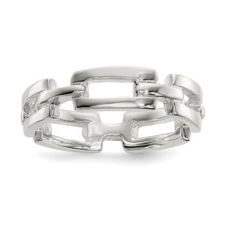 925 Sterling Silver Link Band Ring Size 6.00 Fine Jewelry For Women Gifts For Her - image 8 de 8