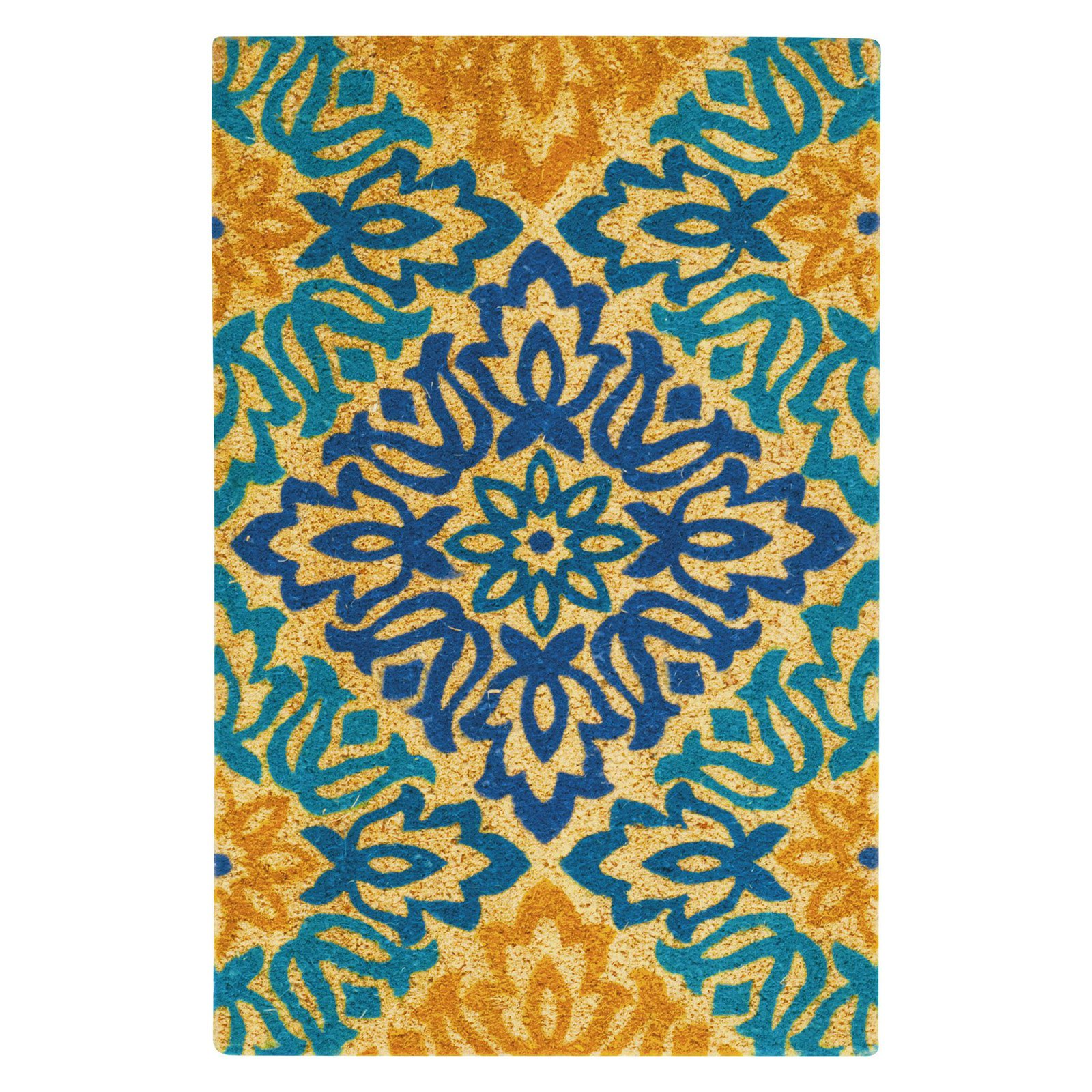 "Waverly Greetings ""Sweet Things"" Aqua Doormat by Nourison"