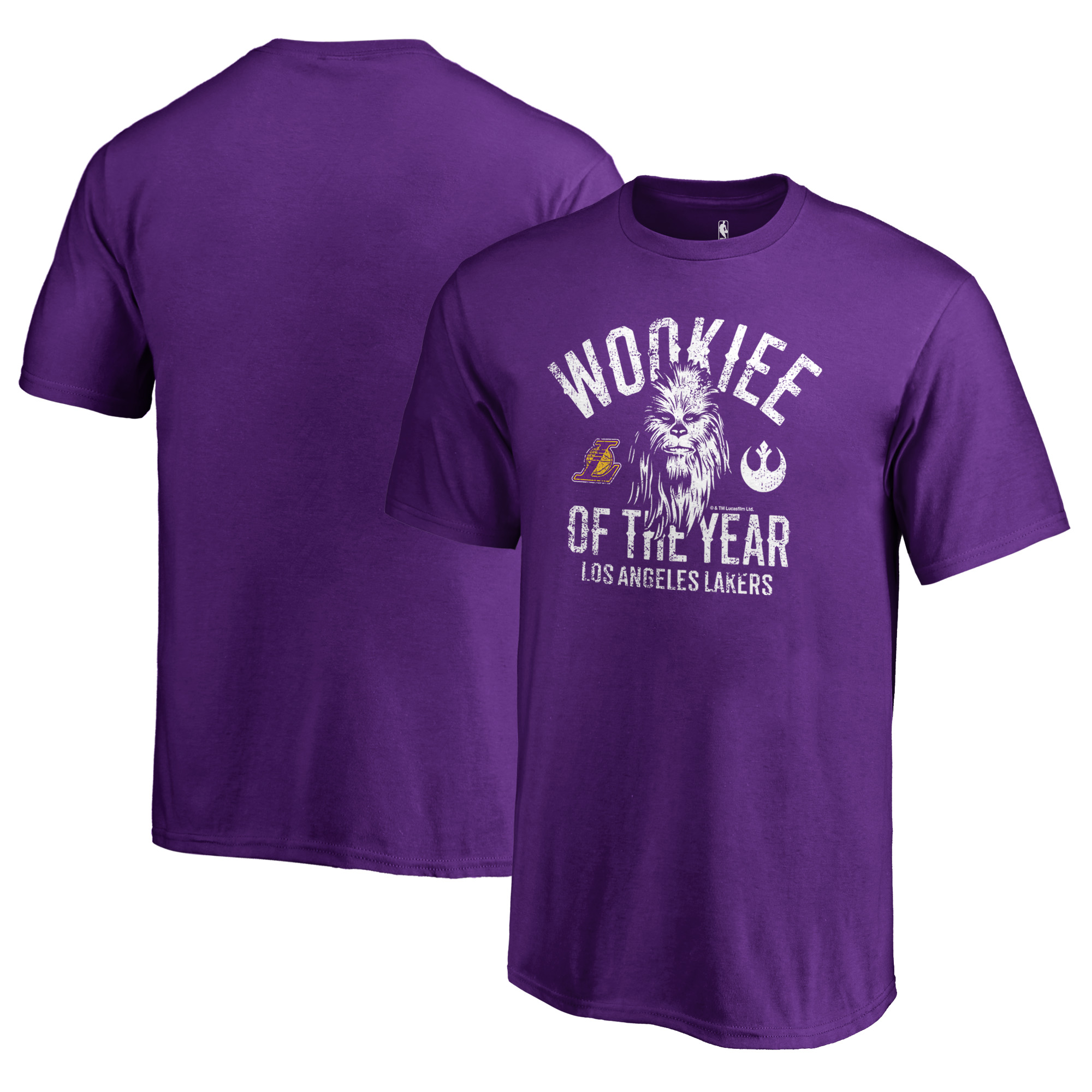Los Angeles Lakers Fanatics Branded Youth Star Wars Wookie of the Year T-Shirt - Purple