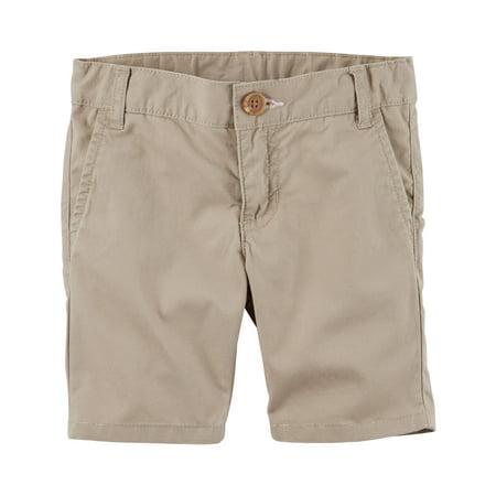 Carter Uniform - Carter's Girls' Khaki Twill Uniform Shorts - 3T