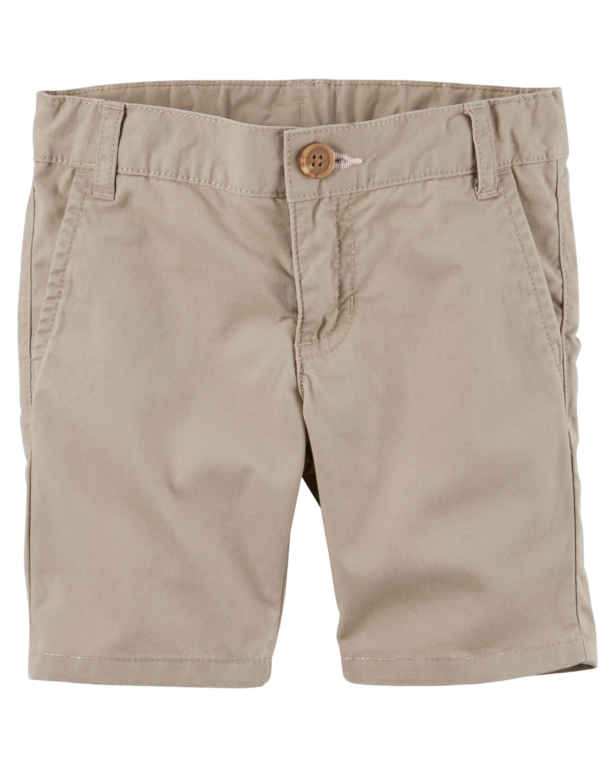 Carter's Girls' Khaki Twill Uniform Shorts - 3T