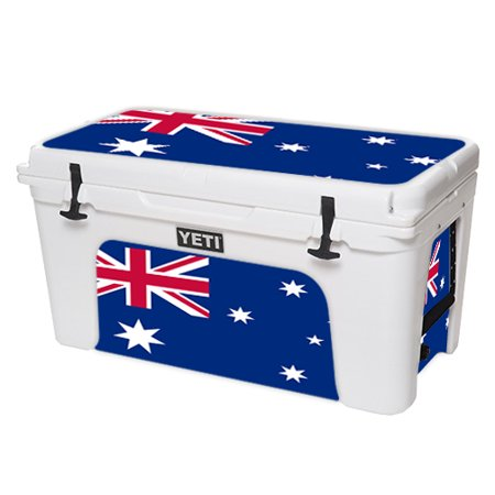 MightySkins Protective Vinyl Skin Decal for YETI Tundra 110 qt Cooler Lid wrap cover sticker skins Australian Flag -  YETUND75-Australian Flag