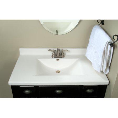 Imperial Center Wave Bowl 37 Single Bathroom Vanity Top
