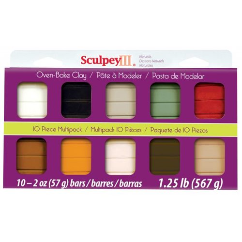 Sculpey III Polymer Clay Multi-Pack, 2 oz, 10pc