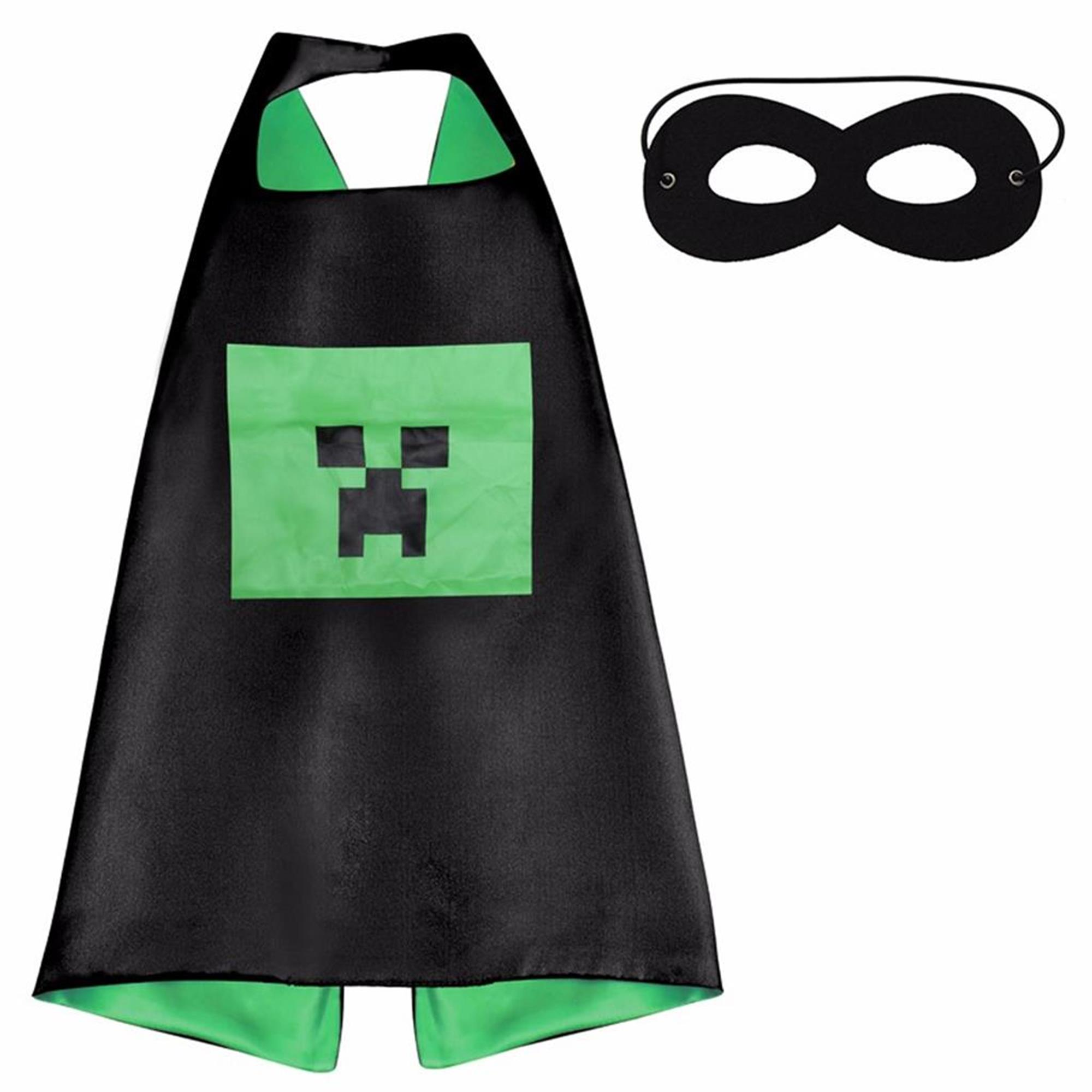 Cartoon Costume - Minecraft Creeper Cape and Mask with Gift Box by Superheroes  sc 1 st  Walmart & Cartoon Costume - Minecraft Creeper Cape and Mask with Gift Box by ...