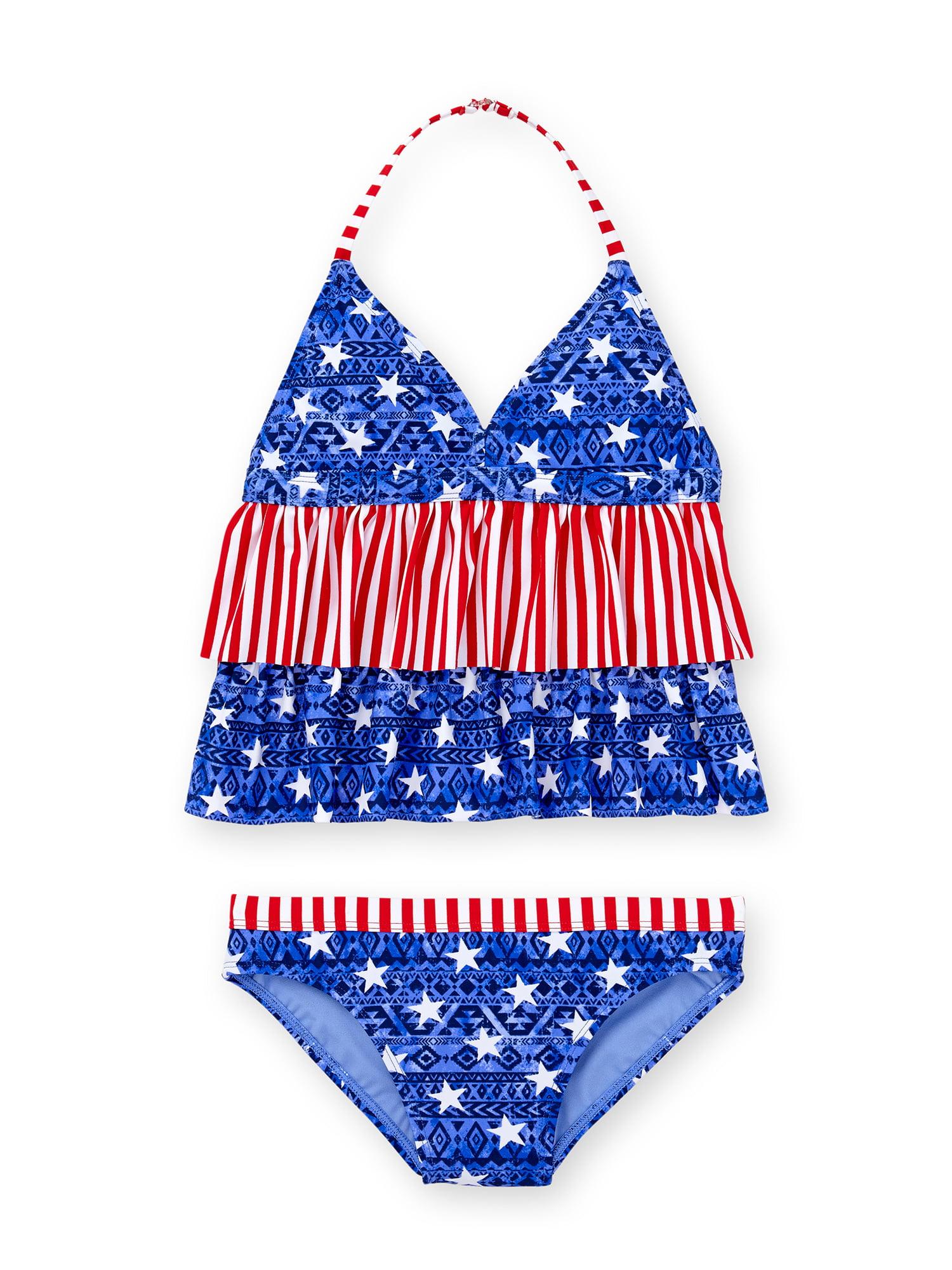 Girls' Americana Fashion Tankini