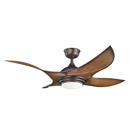 Indoor Ceiling Fans 1 Light With Oil Brushed Bronze Finish LED Bulb 52 inch 17