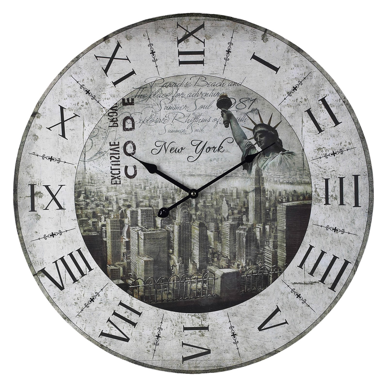 Elk Lighting New York, New York Oversized 24 in. Wall Clock