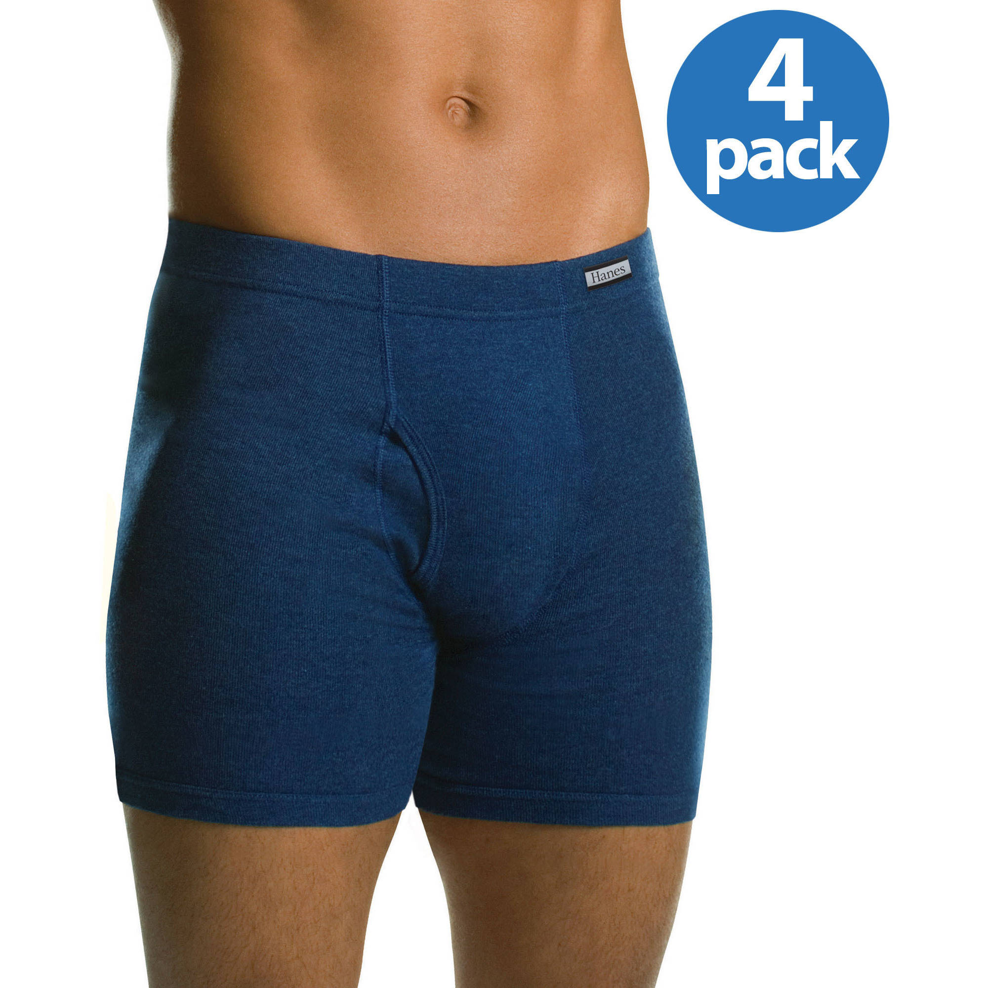Hanes Big Men's FreshIQ ComfortSoft Waistband Boxer Brief 4-Pack, 3XL