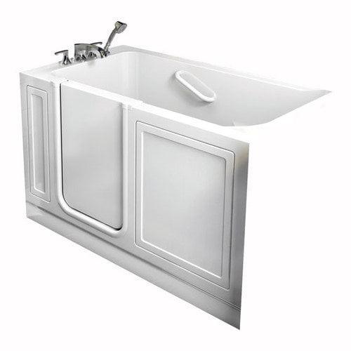 American Standard Acrylic 51'' x 30'' Walk-In Air/Whirlpool Bathtub with Air Spa