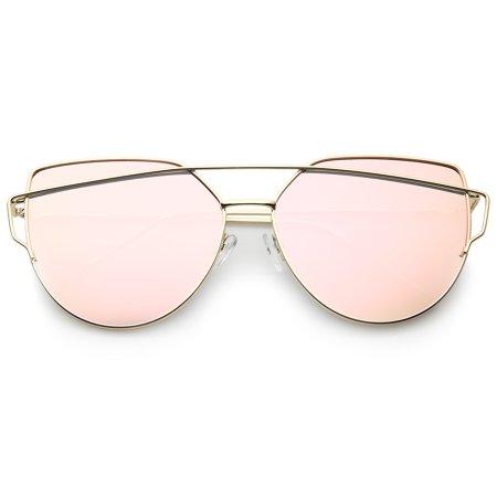 fa01f2d031 sunglassLA - sunglassLA - Oversize Metal Frame Thin Temple Color Mirror  Flat Lens Aviator Sunglasses - 62mm - Walmart.com