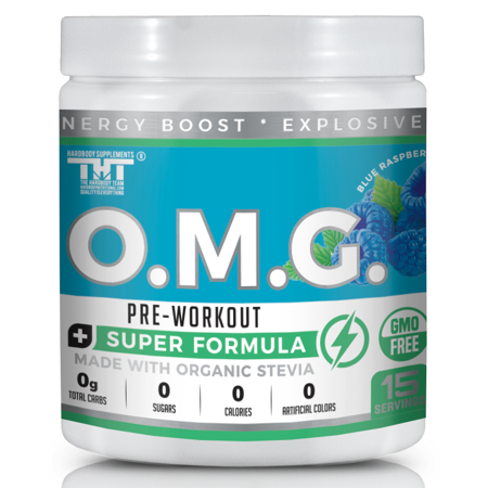 OMG Pre Workout Powder for Men & Women. A Great Energy Drink that improves focus and performance. Made with Organic Stevia + Organic
