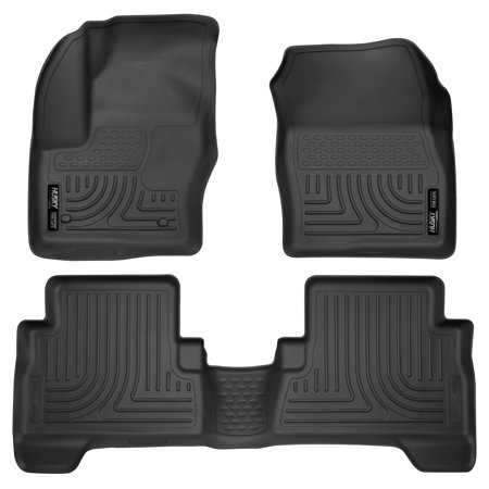 Husky Liners Front & 2nd Seat Floor Liners Fits 13-18 C-Max, 13-18 Escape 2008 Ford Escape Husky