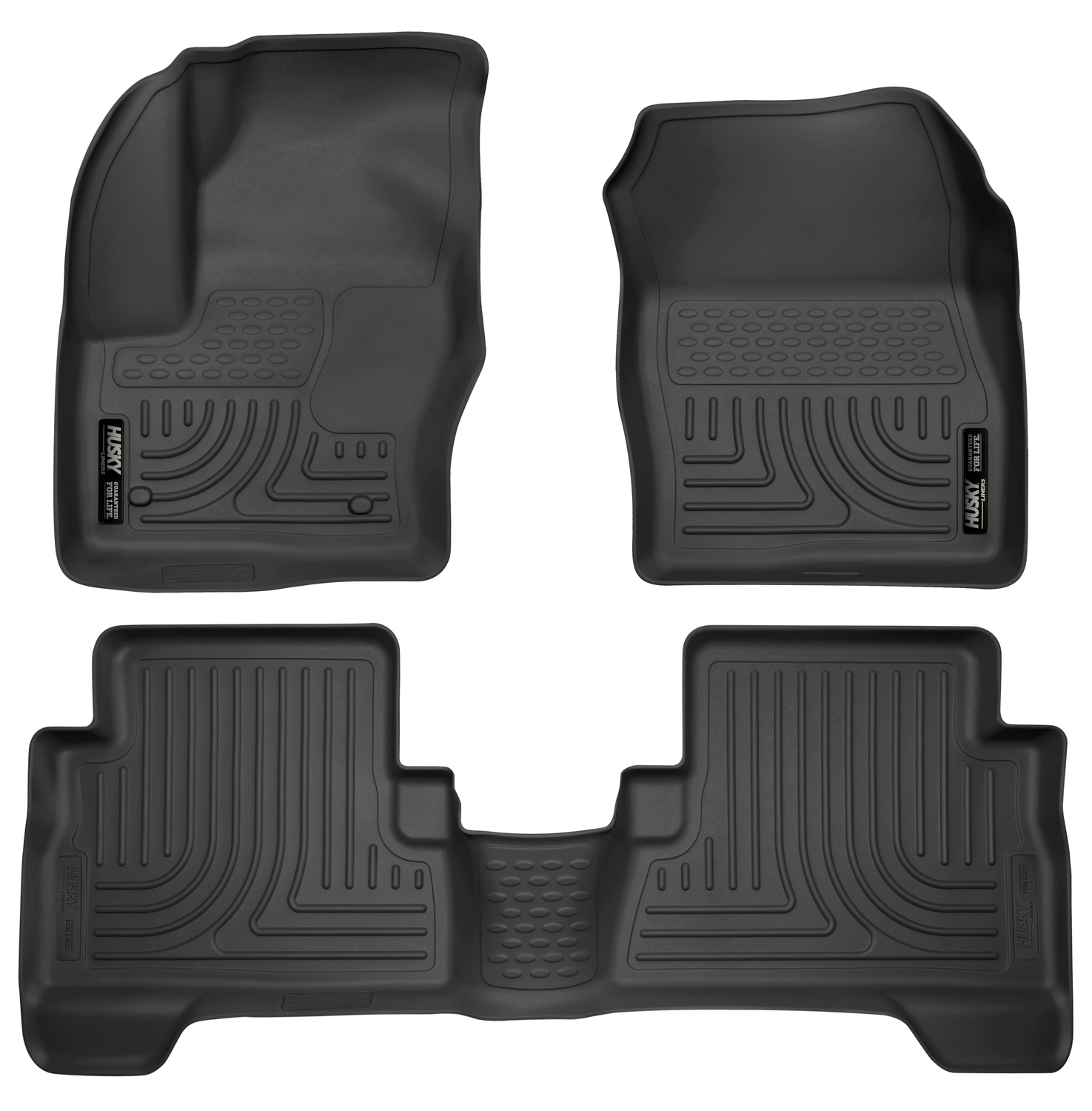 Husky Liners Front & 2nd Seat Floor Liners Fits 13-18 C-Max, 13-18 Escape