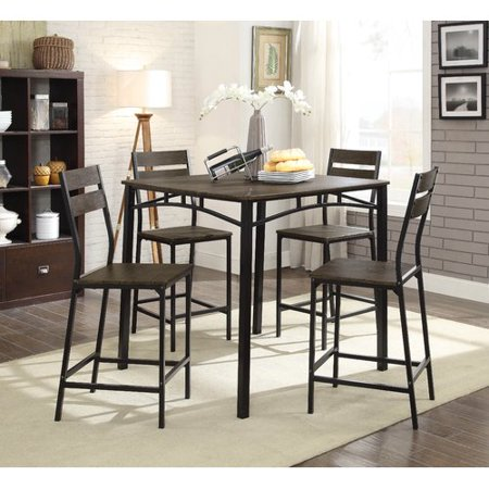 Gracie Oaks Autberry 5 Piece Pub Table Set