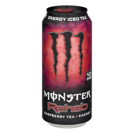 Monster Energy Iced Tea Rehab Raspberry Tea   Energy  15 5 Fl Oz