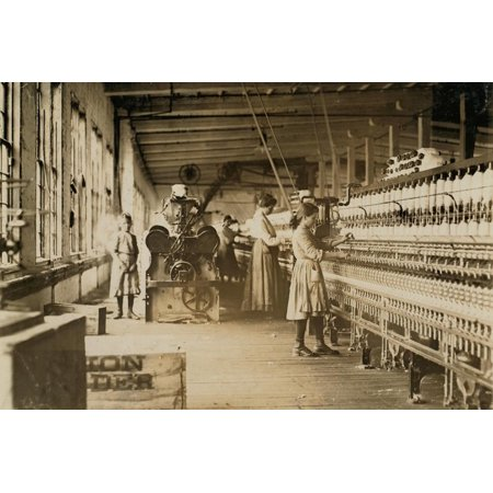 Two Young Spinners in Catawba Cotton Mills, Newton, North Carolina, 1908 Print Wall Art By Lewis Wickes (Mall North Carolina)