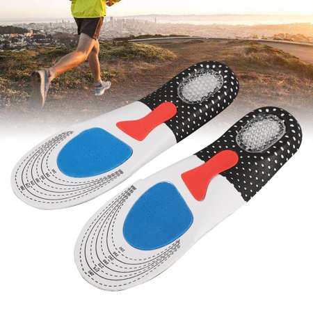 Feet Insoles Arch Supports Orthotics Inserts Relieve Flat Feet, High Arch, Foot Pain, Silicone Cuttable Insoles for Walking and