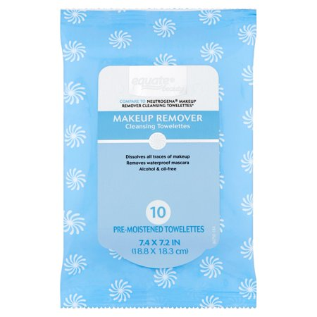 Equate Beauty Makeup Remover Pre-Moistened Cleansing Towelettes, 10 count